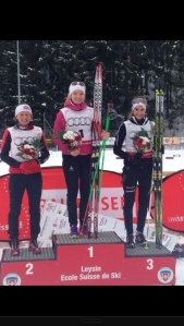 5km classic podium at Swiss national championships