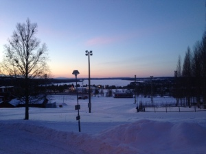 An evening ski in Ostersund
