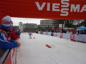Andrew racing in prologue in Drammen