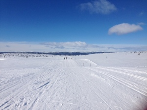 Ski tracks as wide as motorways!