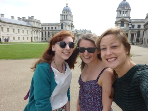 Catching up with my friends Hannah and Lauren in London