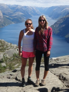 Me and my sister Heather at Preikestolen