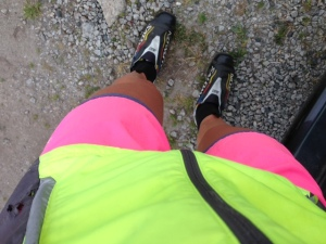 Taking high vis to a new level for rollerskiing!