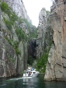 Impressive cliffs on the Lysefjord