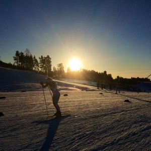 Duringt he 10km skate time tiral in Falun.