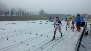 Starting the sprint in Hochfilzen.  Not really much snow!