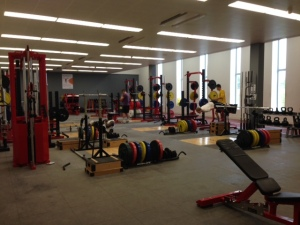 The new uni gym - which has been fun to train in